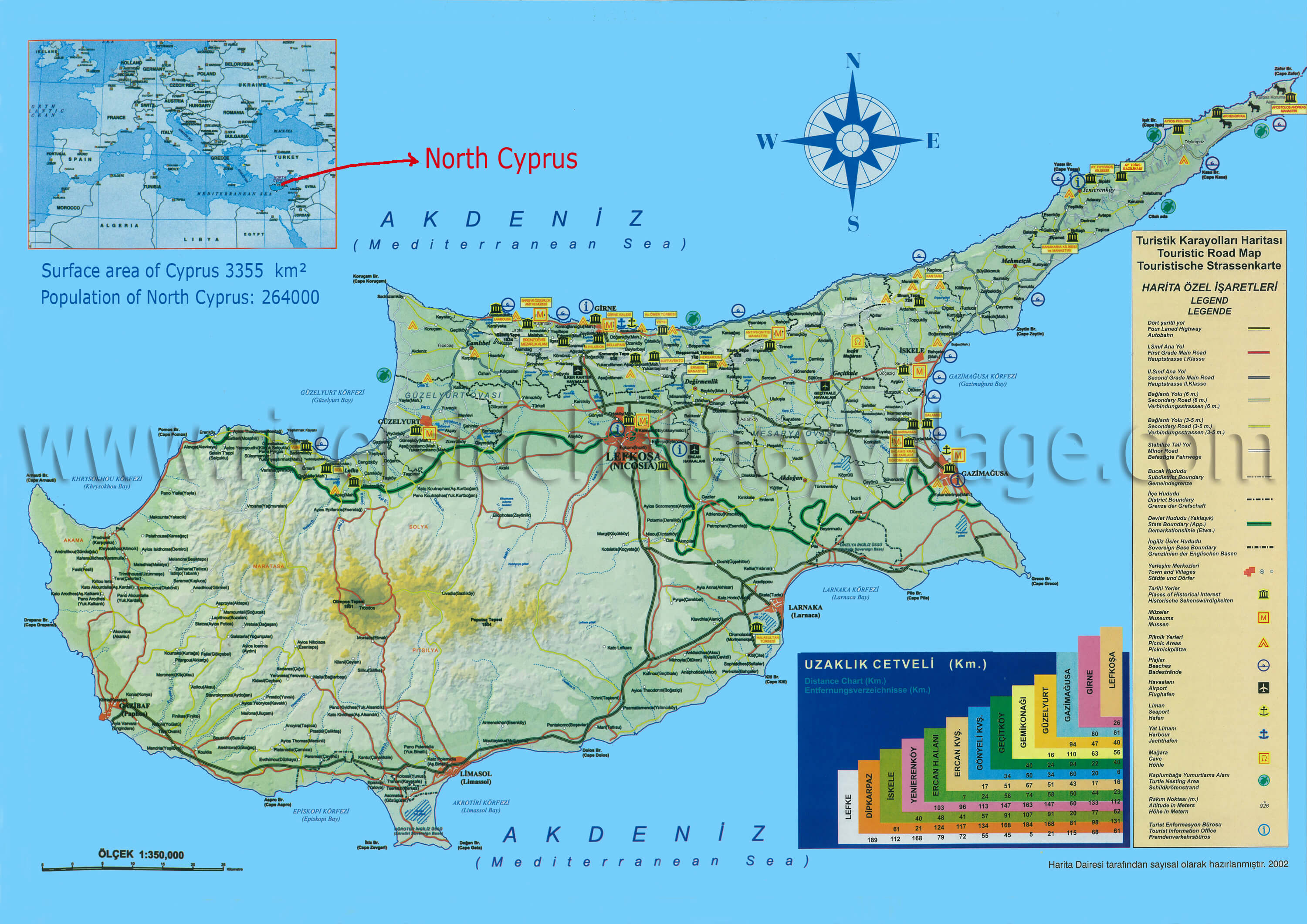 North Cyprus maps Northern Cyprus tourist map by Riverside